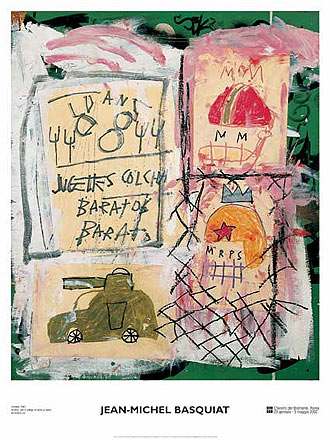 Untitled (Rare Poster) by Jean-Michel Basquiat - Urban art/graffiti print