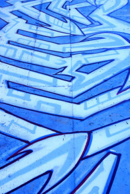 World Gallery Blue Graffiti for Sale on Canvas or Fine Art Paper