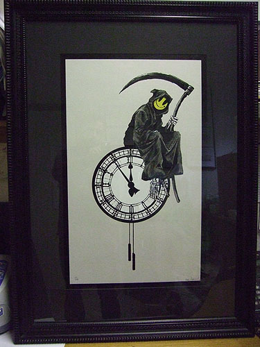 Banksy Print art for sale - Grim Reaper Urban Art Print
