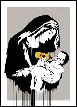 Banksy for sale - Virgin Mary Silkscreen Urban Art Print Art Republic
