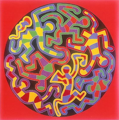 Keith Haring print - Monkey Puzzle 1988 - Poster for sale