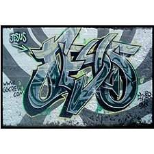 Jesus graffiti Urban art for sale - Print/Poster