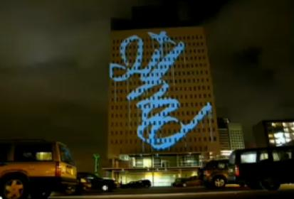 Classic Graffiti Research Lab Video - Awesome Laser Building Graffiti