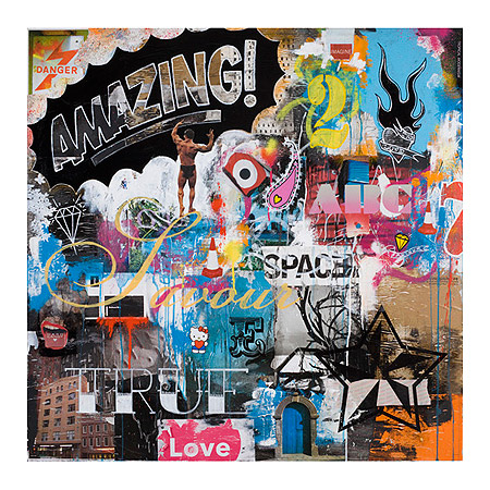 Built To Love (Giclee Signed Limited Edition of 100) art print / poster by Ben Allen, 90cm x 90cm