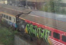 London train graffiti – willesden junction station 2012