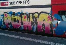 Switzerland train graffiti – 2012 Geneva