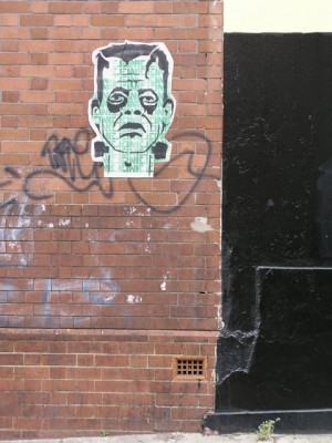 EINE paste up - street art