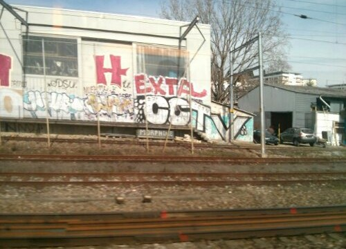 Another set of France/Switzerland Train Graffiti