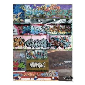 Graffiti collage Photographic Poster Print by day in the lyfe