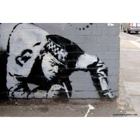 Graffiti Line by Banksy. ART POSTER FOR SALE 36.00 inches width by 24.00 inches height