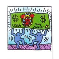 $ Art print / poster by Keith Haring, 80cm x 60cm